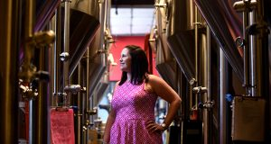 Lauren Ades, attorney with P K Law at Union Craft Brewing in Baltimore. (The Daily Record/Maximilian Franz)