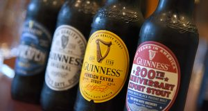 A line of Guinness beers.  (The Daily Record / Maximilian Franz)