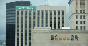 M&T Bank currently leases roughly 220,000 square feet of space at 25 S. Charles St. (File photo)