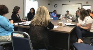 Members of the Behavioral and Substance Abuse Programs and Services Workgroup began to develop ideas on recovery schools in Baltimore at their meeting on Thursday, September 7, 2017. (Georgia Slater/Capital News Service)