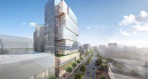 This rendering depicts the Carr Building, to be built at 7272 Wisconsin Avenue, Bethesda.