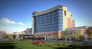 Renderings for the University of Maryland Capital Region Medical Center in Largo.