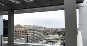 A view of Johns Hopkins Hospital from the new Residence Inn Hotel. (Adam Bednar)