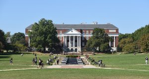 McKeldin Mall on the University of Maryland College Park Campus. (The Daily Record / Maximilian Franz)