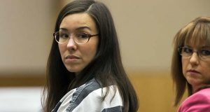 FILE- In this April 13, 2015, file photo, Jodi Arias, left, looks on next to her attorney, Jennifer Willmott, during her sentencing in Maricopa County Superior Court in Phoenix. Arias has sued her former defense attorney, L. Kirk Nurmi, over a tell-all book, claiming passages are personally disparaging or violate the rules of ethical conduct for lawyers. (Mark Henle/The Arizona Republic via AP, Pool, File)