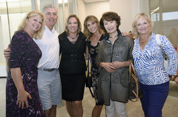 From left, Terezia Fields; Chuck Durakis; Carla Northrop, vice president and CEO of Creig Northrop Team of Long & Foster Real Estate; Renee Durakis, a full-time sales agent and Realtor; In Sook Cang; and Janis Emschwiller, of Long & Foster Real Estate, attended the grand-opening celebration of the Creig Northrop Team's new offices in Clarksville. (Photo by Steve Ruark)