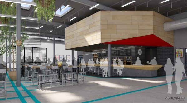 A rendering of Union Craft Brewing's planned taproom. (Renderings courtesy  Ziger/Snead Architects)