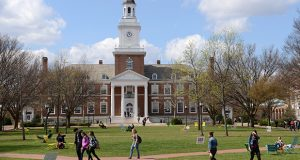Under proposed legislation, some schools' investment earnings would be taxed at a rate of 1.4 percent. Currently, that criteria would apply to Johns Hopkins University, whose Homewood campus is shown here, as well as Goucher College and Washington College. (The Daily Record / Maximilian Franz)