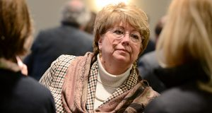 01.06.13 Annapolis, MD-  Delegate Kathleen M. Dumais, portraits near the Statehouse. (Maximilian Franz/The Daily Record)