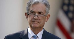 Federal Reserve board member Jerome Powell stands as President Donald Trump announces him as his nominee for the next chair of the Federal Reserve in the Rose Garden of the White House in Washington, Thursday, Nov. 2, 2017. (AP Photo/Alex Brandon)