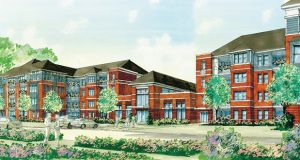 A rendering of what the Monarch at Waugh Chapel project in Gabrills will look like when it is completed. Bozzuto Development Company secured a $61.149 million loan for the project Tuesday. (PRNewsfoto/Walker & Dunlop, Inc.)
