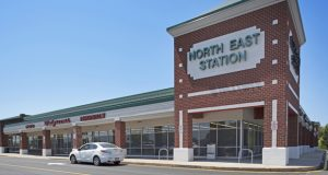 The 87,006-square-foot North East Station Shopping Center at 2500-2548 West Pulaski Hwy. is anchored by a Food Lion grocery store. Additional tenants in the 90.3 percent-leased center include a Walgreens, Waffle House, AutoZone, Wendy's and West Marine.  (Photo courtesy of Klein Enterprises)