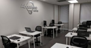 One of the classrooms that AboutWeb Cares uses for training in its Baltimore office.