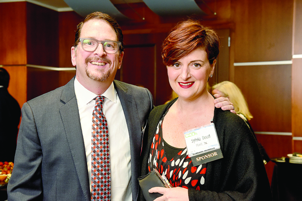 Matt Doud, left, the president Planit Advertising and a Most Admired CEO award winner, and Sylvia Doud, a counselor at Cristo Rey Jesuit High School, were on hand at the BWI Hilton for The Daily Record's 2017 Most Admired CEOs celebration. (Photo by Maximilian Franz)