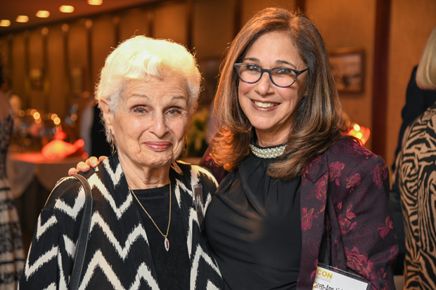AJ Lichtenstein, left, was on hand to congratulate her daughter, Karen-Ann Lichtenstein, president and CEO of The Coordinating Center, on being named a 2017 Daily Record Icon Honors winner. (Photo by Maximilian Franz)