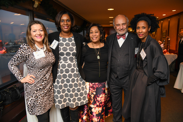 "From left, Oana Brooks, an attorney/equity compliance investigator in the Office of Institutional Equity at Johns Hopkins University; Asha Joseph Jefferson, an attorney with Chesapeake Employers Insurance Company; Jean Joseph; William H. ""Billy"" Murphy, the senior and founding partner of Murphy Falcon Murphy and a 2017 Daily Record Icon Honors winner; and Teresa Briscoe, of Murphy Falcon Murphy; attended the awards reception at The Center Club. (Photo by Maximilian Franz)"