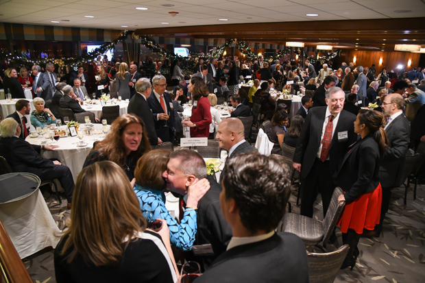 A crowd of more than 225 people packed The Center Club in downtown Baltimore for the inaugural Daily Record Icon Honors awards reception. (Photo by Maximilian Franz)