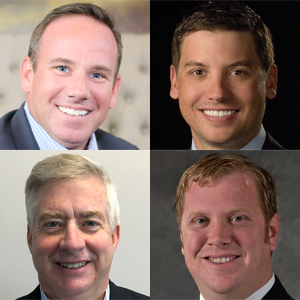 Top row, from left, Keith Gillan and Stephen Margerum; Second row, Steve Weidner and Patrick Butler.