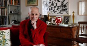 Filmmaker John Waters poses in 2017 for a photograph during an interview with The Associated Press at his home in Baltimore. (AP Photo/Patrick Semansky)