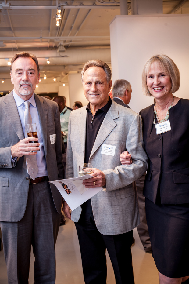 From left, Dr. Robert Anda, co-founder of ACE Interface; George Sherman, president of Cypress Group LLC; and Patricia Cronin, executive director of The Family Tree, attended the launch of the statewide ACE Interface Project. (Photo by Kat Ashdown)