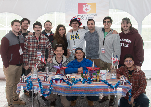 Members of Washington College's Kappa Alpha fraternity were the first college fraternity to compete in the Stars, Stripes and Chow Chili Cook-Off fundraiser. (Photo courtesy of The Baltimore Station)