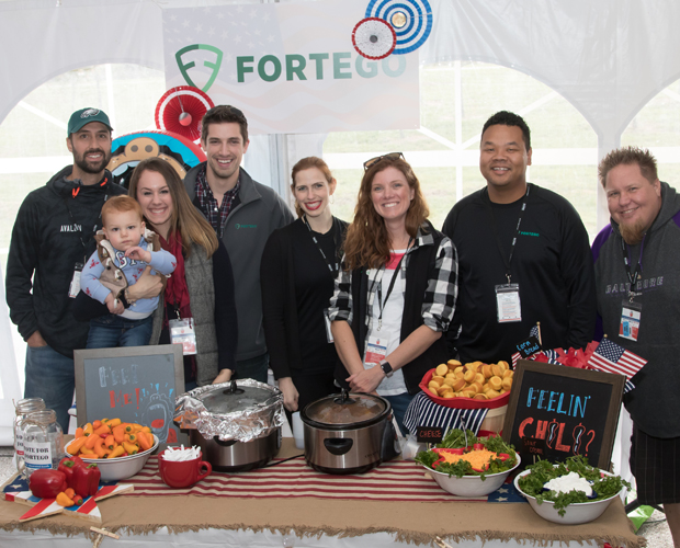 The team from Fortego LLC returned to compete to compete in the Stars, Stripes and Chow Chili Cook-Off fundraiser benefitting The Baltimore Station. (Photo courtesy of The Baltimore Station)