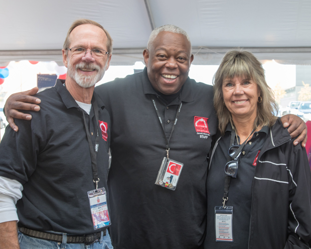 From left, Baltimore Station Facilities Manager Mike Fannon, Assistant Clinical Director Paul Martin and Clinical Director Arlene Hackbarth, helped make the Stars, Stripes and Chow Chili Cook-Off enjoyable for everyone. (Photo courtesy of The Baltimore Station)