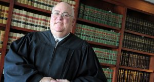 Judge Dana M. Levitz, Circuit Court for Baltimore County, MD. Portraits for his retirement story. Maximilian FranzThe Daily Record.