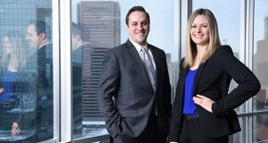 Sarah M. Sawyer and Russell B. Berger, Attorneys at Offit Kurman.  (The Daily Record/Maximilian Franz)