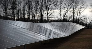Solar panels installed by Standard Solar Inc. at the Anne Arundel County Public Schools maintenance facility in Pasadena, MD. Photo by Maximilian Franz