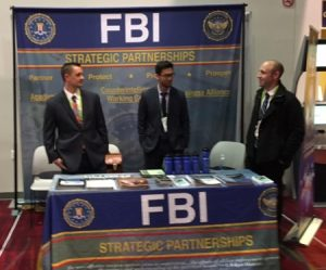 Even the FBI has a booth at CES 2018. (Courtesy of Frank Gorman)