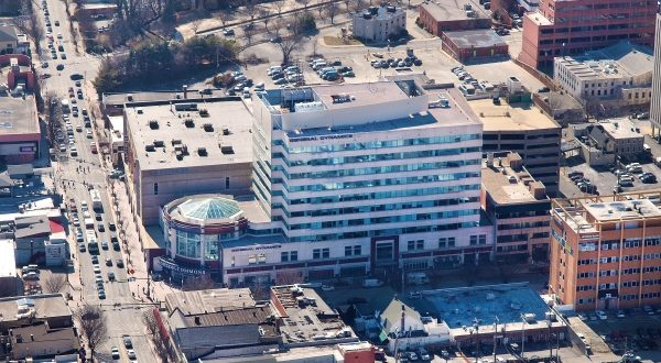Towson Commons, a 10--story Class A office building, sold for $18 million to a Baltimore based real estate investment and development firm. (Photo Courtesy Cushman & Wakefield)