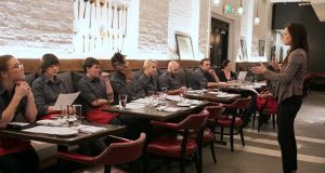 Staff of La Cuchara restaurant in Baltimore is trained by the Hearing and Speech Agency ahead of Baltimore Restaurant Week. (Hearing and Speech Agency photo / PRWeb)