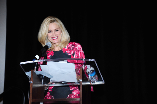 Peggy Fox, an anchor with WUSA-TV, channel 9, addresses the crowd during the inaugural Melwood Ability Awards. Fox, the emcee of the event, spoke of her personal bond to Melwood's mission through her brother-in-law, who is recovering from a brain injury. (Photo by Ayesha Khwaja)