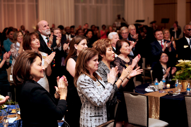 Guests give a standing ovation to one of the speakers at MGM National Harbor during the inaugural Melwood Ability Awards. (Photo by Ayesha Khwaja)