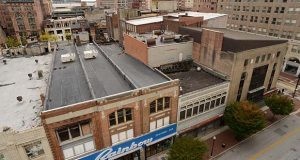 The Superblock from the Catholic Relief building in 2013. (Maximilian Franz/The Daily Record)