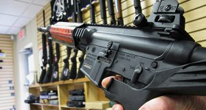 "The gun right group maintains that the state's ban on bump stocks and other ""rapid-fire trigger activators"" devices amounts to a ""taking"" of private property for which ""just compensation"" is constitutionally owed. (AP Photo/Allen Breed, File)"