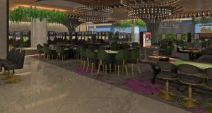 Live! Casino & Hotel's Orchid Gaming & Smoking Patio is expected to open in mid-April. (PRNewsfoto/Live! Casino & Hotel)
