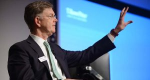 Edward C. Bernard, vice chairman of T. Rowe Price Group, speaks in 2017. Bernard will retire at the end of the year, the company announced Wednesday. (Maximilian Franz/The Daily Record)