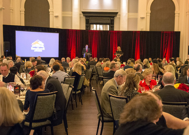 A crowd of 200 people attended the inaugural Renaissance Awards dinner at the Sagamore Pendry hotel in Fells Point. (Photo by Jerry Dzierwinkski, Maryland Horse Breeders Association)