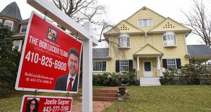 A home for sale in the Roland Park neighborhood of Baltimore. (The Daily Record / Maximilian Franz)