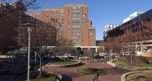Shot of University of Mayland Hospital at 22 South Green Street in Baltimore. MF 12/16/04.