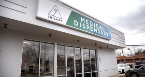 Trilogy Wellness of Maryland, LLC medical marijuana dispensary in 9291 Baltimore National Pike in Ellicott City, shown in March of 2018.  (The Daily Record / Maximilian Franz)