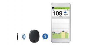Eversense, a long-term implantable continuous glucose monitoring system. (Senseonics Holdings photo)