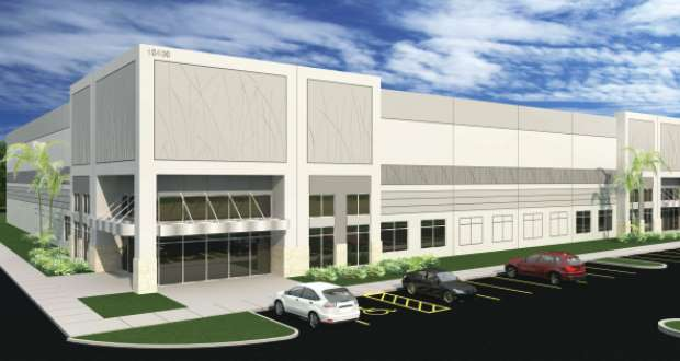 Knott Realty Group has started construction on the 200,961-square-foot Meridian North speculative distribution/warehouse space in Fort Myers, Florida. (Rendering courtesy Knott Realty Group).