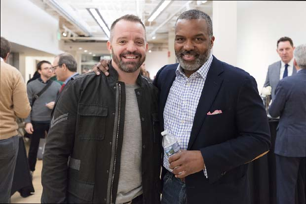 Joe Mechlinksi, left, CEO of SHIFT and general partner of SHIFT Ventures; and Jeff Cherry, CEO of SHIFT Ventures and Founder of Conscious Venture Lab, take time for a photo during Demo Day 3. (Photo courtesy of Alex Afzali, SHIFT Ventures and Conscious Venture Lab)