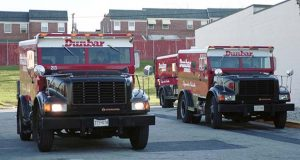 Dunbar armored trucks  in Eastpoint in 1999. (The Daily Record / Maximilian Franz)
