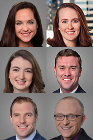 Top row, from left, Margaret O'Neill and Meghan Yanacek; Second row, Hillary Clecker and Ryan Cullen; Third row, Emmit Kellar and Sean Gugerty.