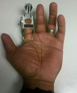 First concept of the prosthetic on Brian Jordan's hand. (Submitted photo)