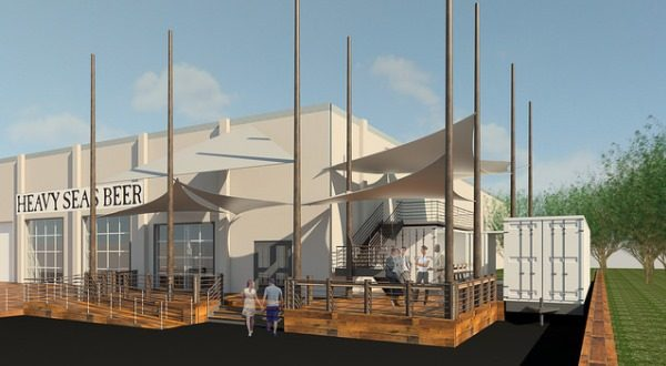Heavy Seas Beer plans to open its overhauled tap room and small bath brewing operation in Halethorpe in June 2019. (Rendering Courtesy Heavy Seas Beer).